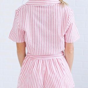 HERS & MINE Other - Red and White Striped Romper